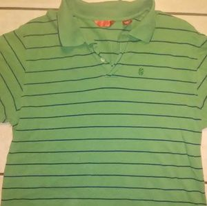 IZOD Green and Blue Striped Polo